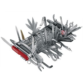 Swiss Army Knife with too much