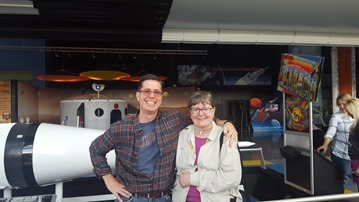 My mom (who has a PhD in biochemistry) and I at the Huntsville Space and Rocket Center