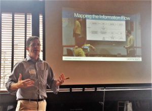 Laurence Hart speaking at ARMA Boston, presenting the importance of mapping the information flow